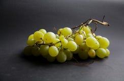 Grön textur för bakgrund för makro för druvafruktcloseup Arkivfoto