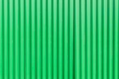 Grön textur för staket för zink för stålark Arkivbilder