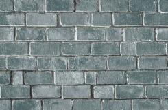 Grön texturerad bakgrund för tegelstenvägg arkivfoton