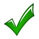 grön tick Royaltyfri Bild