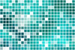 Grön tillfällig ogenomskinlighetsmosaik för turkos över vit stock illustrationer