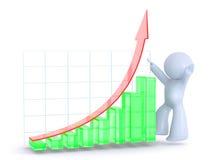 grön tillväxtred för graf Royaltyfri Foto