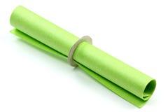 Grön tombolabiljett Arkivfoton