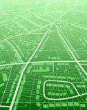 grön town Arkivfoto