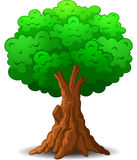 grön trädtecknad film Stock Illustrationer