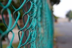 grön tråd för staket Arkivbilder