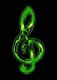 grön treble för klav Royaltyfri Foto