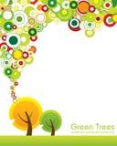 grön tree för begrepp stock illustrationer