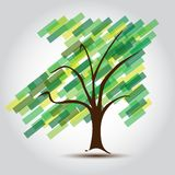 Grön tree med pilen UPP av den växande affären Fotografering för Bildbyråer