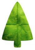 Grön tree som göras av det återanvända paper hantverket Arkivbild