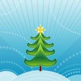grön treevektor för jul stock illustrationer
