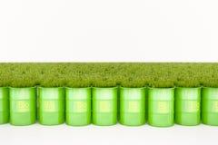 Grön trumma av bio bränsle arkivfoto