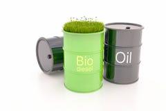Grön trumma av bio bränsle royaltyfria bilder