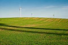 grön turbinwind för fält arkivfoton