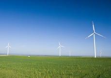 grön turbinwind för fält Arkivbilder