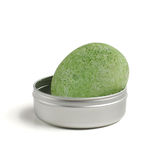 grön tvål Arkivbild
