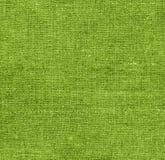 Grön tygtextur för bakgrund Arkivbild