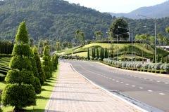 grön väg thailand för chiangmai Arkivbild