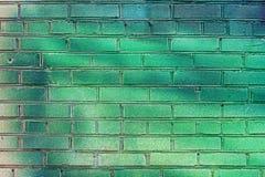 grön vägg för tegelsten Royaltyfri Bild