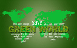 grön värld Fotografering för Bildbyråer