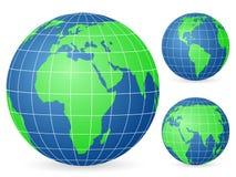 grön värld för jordklot Arkivfoto