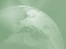 Grön världsjordklotbakgrund Arkivbild