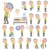 Grön västfarfar om sjukdomen royaltyfri illustrationer