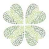 Grön växt av släktet Trifolium lämnar hjärta formad på en vit bakgrund För dagvektor för St Patricks dragen hand för illustration stock illustrationer