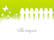 Grön vårbakgrund royaltyfri illustrationer