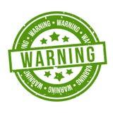 Grön varnande stämpel Emblem f?r vektor Eps10 royaltyfri illustrationer