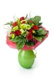 grön vase för bukett Royaltyfri Fotografi