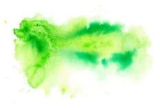 Grön vattnig illustration Arkivbild