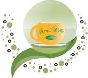 Grön vektor för kaffelogodesign Arkivbilder