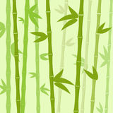 Grön vektor för lägenhet för bakgrund för bambuträdsidor Arkivfoto