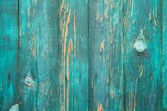 Grön verklig Wood texturbakgrund Tappning och gammalt Royaltyfri Foto
