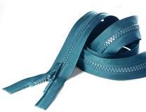 grön vit zipper för bakgrund Arkivfoton