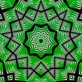 Grön vitsvart för kalejdoskop Arkivbild