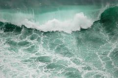 grön wave Royaltyfri Fotografi