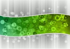Grön wave stock illustrationer