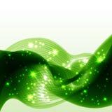 grön wave för abstrakt bakgrund Royaltyfria Bilder