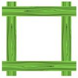 Grön wood ram Arkivbilder