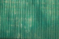Grön zinkväggbakgrund Royaltyfria Bilder