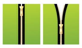 grön zipper Royaltyfri Bild