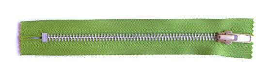 grön zipper Royaltyfri Fotografi