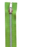 grön zipper Arkivbilder