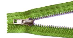 grön zipper Royaltyfria Bilder