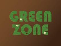 grön zon Stock Illustrationer
