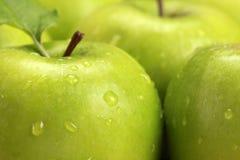 Gröna äpplen royaltyfria bilder