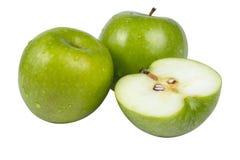Gröna äpplen Arkivbilder