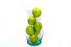 Gröna äpplen i vasen aka Fruitbowl Royaltyfri Bild